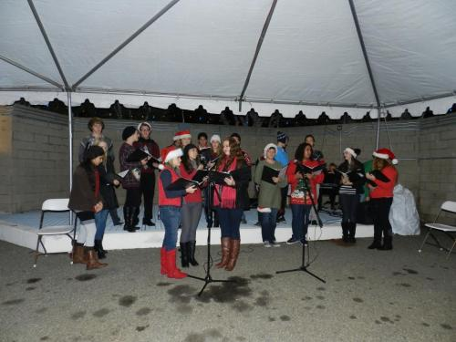 Choir at Holiday party